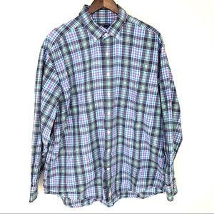 Vineyard Vines Plaid Flannel Whale Shirt Button Up